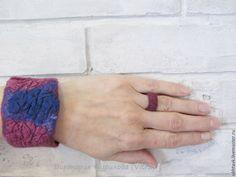 Валяное кольцо валяный браслет  Felted  Cuff  Felted Bracelet FELTED RING  FELTED JEWELRY войлочный браслет  войлочное кольцо валяное кольцо