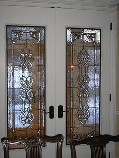 If you are Scottish or Irish you can't help but crave these celtic stained glass doors.