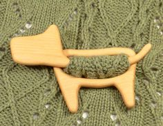 Wooden shawl pin, Shawl stick, Sweater clasp, Pullover pin, Scarf pin, Hair stick, Christmas stocking stuffers, Wooden dog brooch, Eco gift by TurtleWorkshop on Etsy