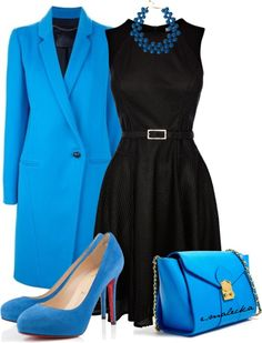 """Lady in blue"" by eva-malecka on Polyvore"