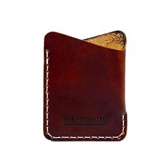Minimalist Slim Leather Wallet with Card Holder Angle Wallet in OxBlood Leather Men Wallet Women Wallet