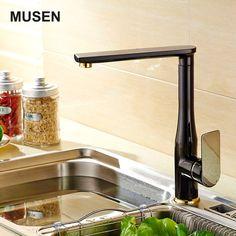 ORB Kitchen Swivel Spout Pull Down Spray Sink Mixer Faucet Soft Black Neck Taps