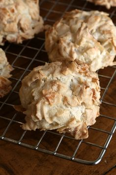 Unlike many gluten-free treats, coconut macaroons won't leave you wanting. Airy meringue coats chewy coconut flakes, and the mixture bakes into fluffy, cloud-like cookies. The sugary meringue deflates and dissolves, paving the way for fleshy, tropical-flavored coconut flakes. I recommend purchasing unsweetened coconut flakes in the bulk bins of a natural food store. They have a fresher flavor and texture, plus it lets you control the sweetness of the cookies. My favorite add-in is mini choco...