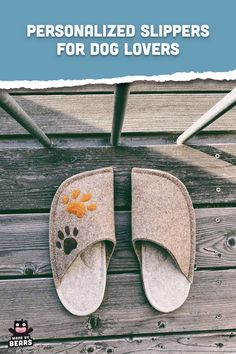 Custom gift idea for dog lovers - cute, handmade slippers with paw patches. #customslippers #pawpatches #doglovers #doglover Fuzzy Slippers, Felted Slippers, Dog Lover Gifts, Dog Lovers, Felt House, Kindle Case, Natural Rubber Latex, Best Friend Gifts, Womens Slippers