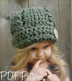 Crochet PATTERN-The Blayke Hat Toddler Child by Thevelvetacorn