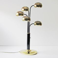 mid-century modern five light arc table lamp in by ModishVintage