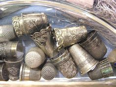 lovely old thimbles by Wanderin' Weeta, via Flickr