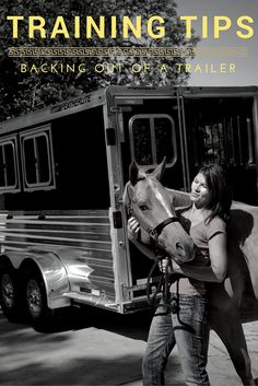 Trailering your American Quarter Horse can be stressful for both you and your horse! Increase your chances of a stress-free trip with these training tips for backing a horse out of a trailer.