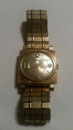 Bulova 1966 m6 Vintage 10K GF 21 Jewels 3 Diamond Chips 10BZC #Bulova