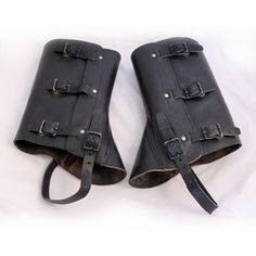 Details  Vintage Leather Military Spats aka Swiss Gaitors - We buy military dead stock and fix them up. They are used condition - but that just adds to the charm. Buckles up the sides and around the shoe. 36$