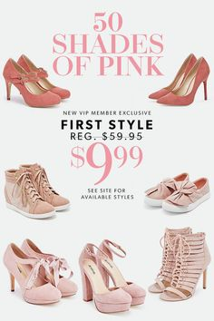 Get VIP ACCESS to the most sought-after online shoes, boots, handbags and clothing for women, handpicked for you based on your personal fashion preferences. Rose Gold Wedding Shoes, Fashion Shoes, Fashion Accessories, Shoe Boots, Shoes Heels, Cute Heels, Dream Shoes, Pink Shoes, Shoe Dazzle