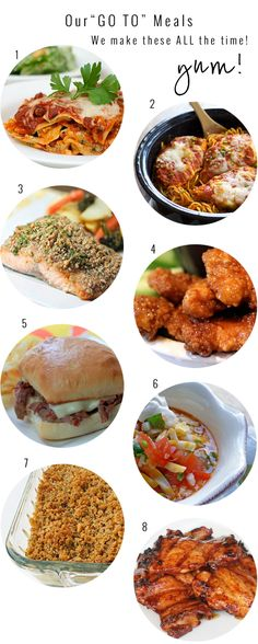 10 dinners we make most often! Approve by my husband and daughter!