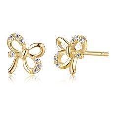 Bow Earrings, Fashion Earrings, Diamond Earrings, Fashion Jewelry, Silver Bow Tie, Guangzhou, Costume Jewelry, 925 Silver, Jewelry Collection