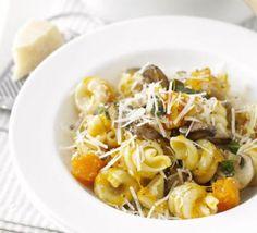 Squash, mushroom & sage pasta