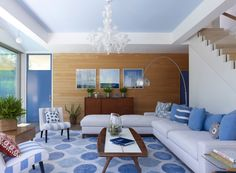 blue and white sitting room Why Italian Household Goods Are The Best Choice