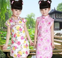 2013 fashion chinese girls traditional dress child tang suit clothing cheongsam dress for children(China (Mainland))