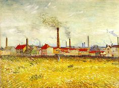 Factories at Asnieres, Seen from the Quai de Clichy Vincent van Gogh 1887 St. Louis Art Museum (United States) Painting - oil on canvas Height: 53.9 cm (21.22 in.), Width: 72.8 cm (28.66 in.)