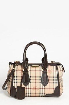 2d122538fb72 Burberry  Haymarket Check  Satchel available at - leather coin purse