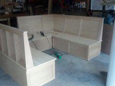 irish pub bench seat | Old Irish Pub Booth - by 3Gwoodguy @ LumberJocks.com ~ woodworking ...