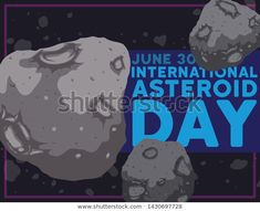 View of an asteroid belt with some close up planetoids with craters floating in the space during International Day celebration this June. Asteroid Belt, International Day, Close Up, 30th, Celebration, Royalty Free Stock Photos, June, Space, Pictures