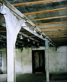 Majdanek Death Camp Gas Chamber.  Shower room interior.   Photo credit: Noreen Brand © 2005