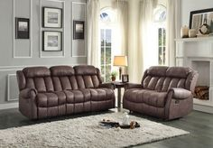 HE-8535CH-3  MANKATO COLLECTION  SOFA, DUAL RCLNR, CHOC 100%POLYThe rolled tufting displays prominently in the Mankato Collection. Offered in a warm chocolate brown or beige cover, this reclining seating group will provide a relaxing spot to spend your downtime. The coordinating chair features a glider mechanism providing additional motion to this seating Finish: Chocolate PolyesterDimensions:85 x 37 x 40HBOX DIM: 81 x 30 x 25.5