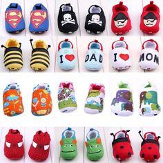 Cute Cartoon Baby Toddler Boy Girls Slipper Soft Sole Walker Shoes 12-18Month #BrandNew #WalkingShoes