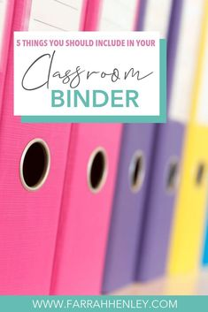 Have you ever gotten really sick or had one of your own kiddos get really sick last minute? We all have days where things just don't go as planned. When we have these days, a classroom binder can be your best friend. Teacher Binder, Teacher Planner, Teacher Organization, Teacher Hacks, Teacher Stuff, Classroom Procedures, Classroom Rules, Future Classroom, Classroom Management