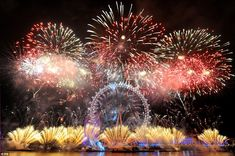 #EpicFireworksHappy New Year, London! Fantastic firework display on the banks of the Thames lights up the capital's skyline to welcome 2013 in UK