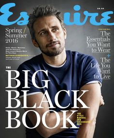 S/S 16   Esquire (Spring/Summer) - 001 - Matthias Schoenaerts Network Picture Gallery