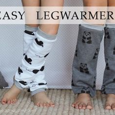 Easy Legwarmers Tutorial-out of old sweat shirts or any stretchy fabric Sewing Tutorials, Sewing Crafts, Sewing Projects, Sewing Patterns, Sewing Stitches, Sewing Hacks, Diy Projects, Diy Crafts, Sewing For Kids