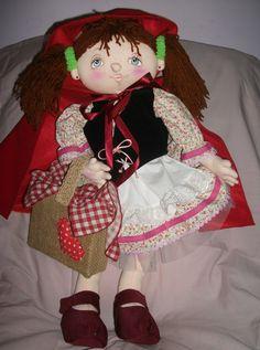@ Boneca Chapeuzinho Vermelho (parte integrante do Tema Chapeuzinho Vermelho). Projeto original da HandFactory by Vera Lemos.12