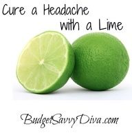 "Worth a shot. One pinner said ""We are not promising to cure migraines with this, but cutting a lime in half and rubbing the part of the head that aches with the open end of the lime can help!"""