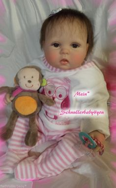 ♥Reborn Reallife Baby BS v. U.L Krautter Babypuppe,Künstlerpuppe♥