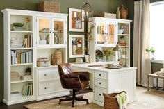 Our Tuscan Return Office Group has enough desk space for two people -- great for kids homework station or a hardworking home office!