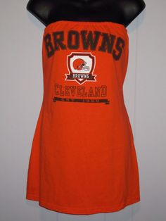 CLEVELAND BROWNS football strapless SHIRT by twochixremix on Etsy, $28.99