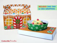 PDF imprimible Navidad Gingerbread House por CutezvillePrintables, £2.50