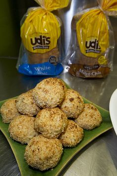 Toasted Pistachio-Cheese Arancini | Udi's® Gluten Free Bread  http://udisglutenfree.com/recipes/toasted-pistachio-cheese-arancini/