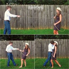cute idea! Country style engagement photo