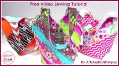Quilted Shoulder Bag – Free Sewing Video Tutorial A quick and easy sewing video tutorial from ArtsAndCrafts4you