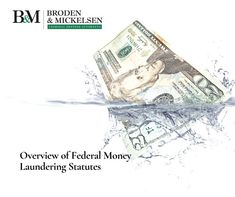 """When one hears the phrase """"money laundering"""" one usually thinks of some activity by which illegal proceeds, such as that earned from selling narcotics, are made to appear as if they were derived from legitimate income. Criminal Law, Criminal Defense, Money Laundering"""