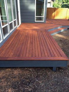 Fijian mahogany deck with timberpro uv stain  www.greenworldlumber.com/product
