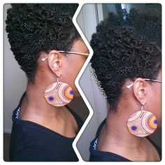 One of my new favs. Just a lil something I whipped up the other night from my new stash of materials. Look at them curls though  #side #profile #selfie #self #love #handmade #earrings #earringlove #craft #accessories #naturalista #naturalhair #uknaturals #afrohair #twa #fashion #naturalhairdaily #nubian #Queen #crown #glory #kinky_stylez #kinkycurly #smallbusiness #uk #teamnatural #curls #smile #tbt #afro