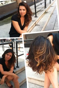 Balayage on a brunette: Done with ♥ at http://lancelappinsalon.com/