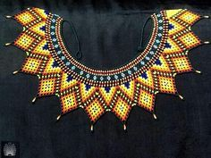 Love the color Seed Bead Jewelry, Bead Jewellery, Beaded Jewelry, Handmade Jewelry, Beaded Collar, Beaded Choker, African Jewelry, Beading Projects, How To Make Beads
