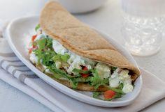 Vegetarian recipe for Potato-Feta Gyros