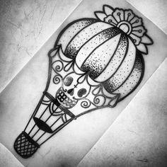 Skull tattoo flash designs