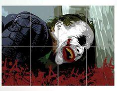 Mega póster Batman. Joker, risas. 8 partes, 116x81cm