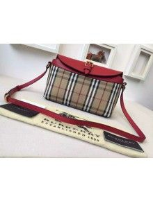 Burberry 39421261 Small Horseferry Check Clutch Bag In Honey/Red