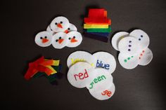 Build a Snowman Color Matching Set Preschool busy bag by howwelearnathome, $15.00